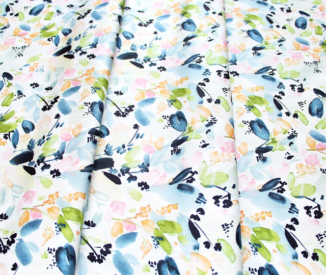 Cloud9 Fabrics Field & Sky 216901 Floral in Indigo