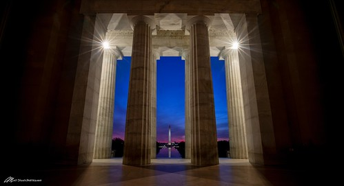 washington dc lincoln memorial capitol color sky sunrise