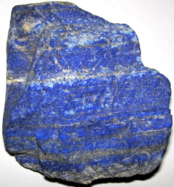 Lapis lazuli (lazuritic gneiss) (Sar-e-Sang Deposit, Sakhi Formation, Precambrian, 2.4-2.7 Ga (?); Sar-e-Sang Mining District, Hindu-Kush Mountains, Afghanistan) 3