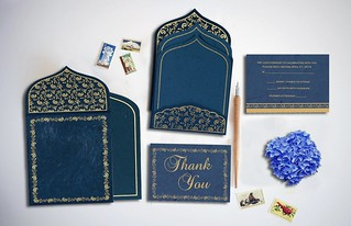Sparkling Glitter Theme Wedding Invitation Card | by IndianWeddingCards-IWC