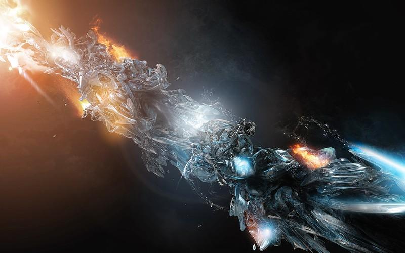 Обои огонь, формы, фигура, лед, обтекаемость картинки на рабочий стол, фото скачать бесплатно
