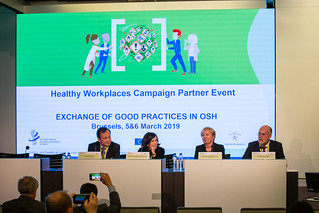 05/03/2019 - 22:49 - The Healthy Workplaces Campaign partner event took place on 5th and 6th of March 2019 in Brussels. The participants shared their experiences on a range of OSH-related subjects: Effective communication, Carcinogens - Multidisciplinary collaboration, Environment, Risk assessment. A special highlight was the ceremony on the occasion of the 10th anniversary of EU-OSHA's campaign partnership scheme and hand-over of certificates.
