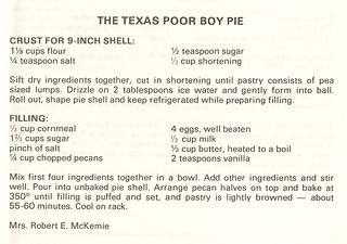 Texas Poor Boy Pie | by The Texas Collection, Baylor University
