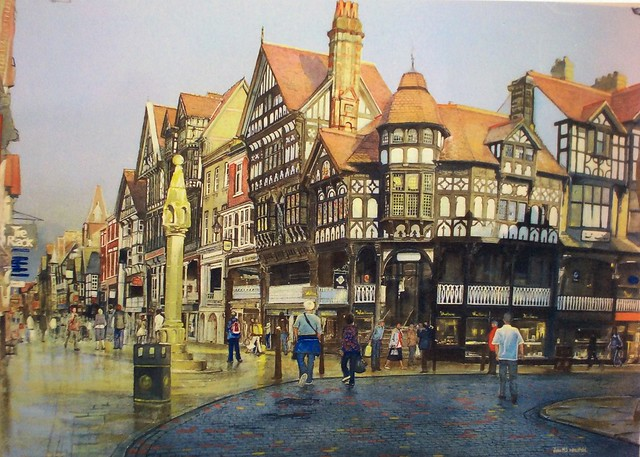 The Cross, Chester. Watercolour painting by jmsw