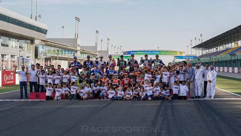 MotoGP startgrid 2019 - Qatar school