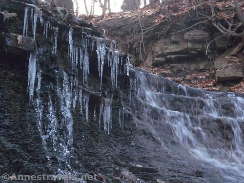 Icicles near Densmore Falls, Irondequoit, New York