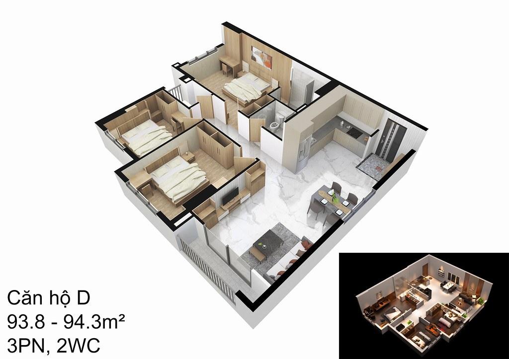 mẫu căn hộ D Raemian Đông Thuận I-Park