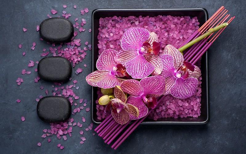 Обои палочки, орхидеи, соль картинки на рабочий стол, раздел цветы - скачать
