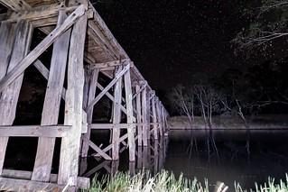 Old Rail bridge Near Natimuk Vic