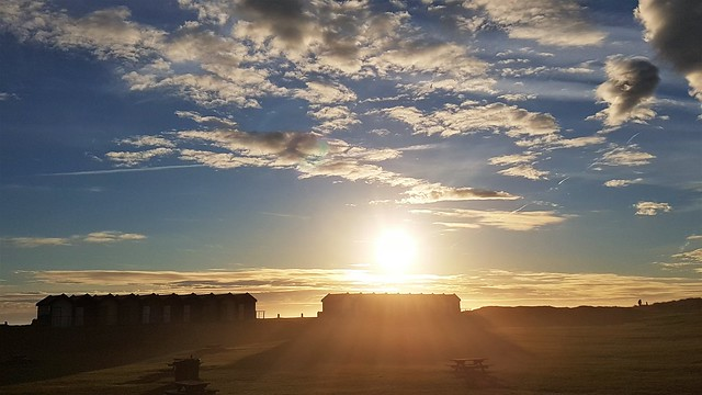 Sunrise Over Blyth Beach Huts