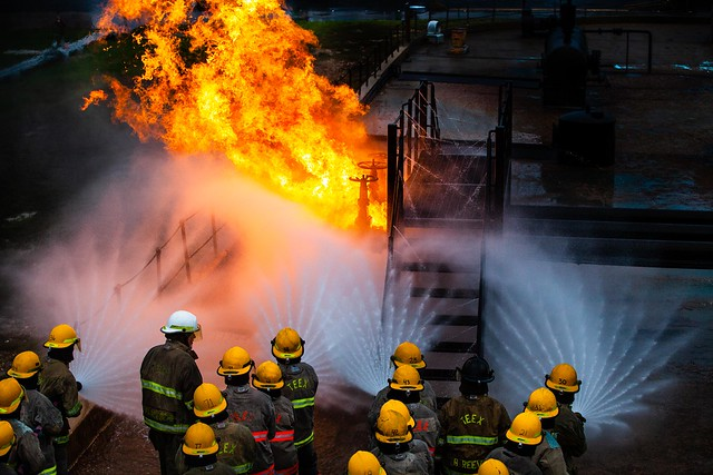 NROTC Fire Training