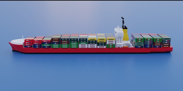 Panamax Class Container Ship