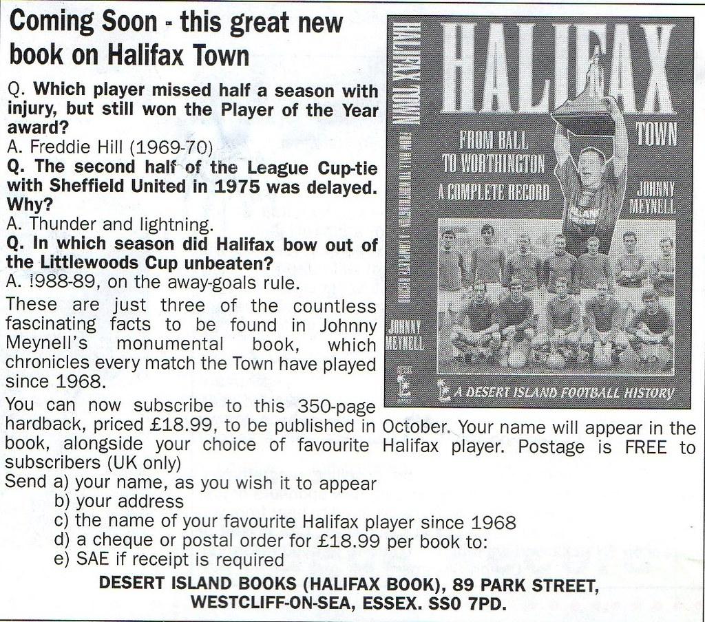 (Programme) 01-05-1999 Halifax Town 1-2 Scarborough 14