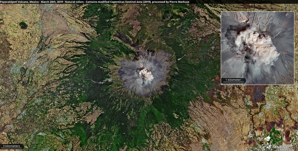 Popocatépetl Volcano, Mexico - March 28th, 2019
