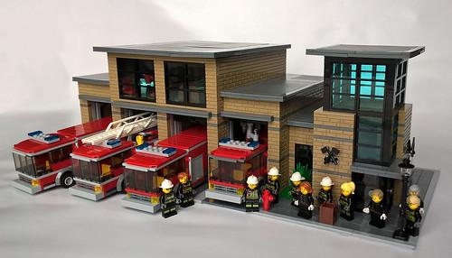 Modern Lego City Fire Station
