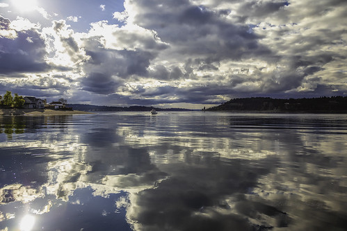 clouds pugetsound outside boat flare reflections sunset titlow
