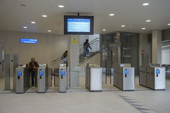 Interior de la estación de Ermua.