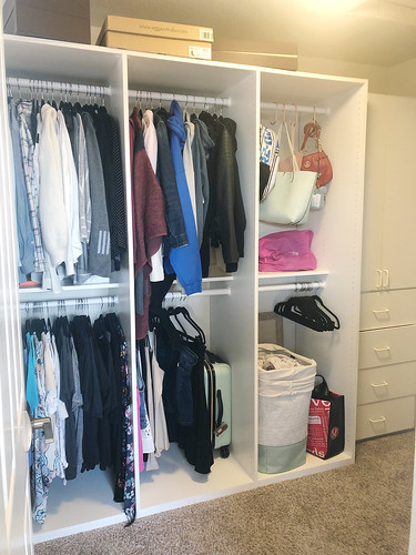 My side of the master closet | by Cristina Robinson