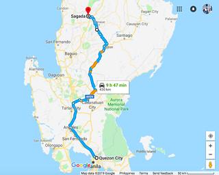 Map Manila to Sagada   by Traveling Morion