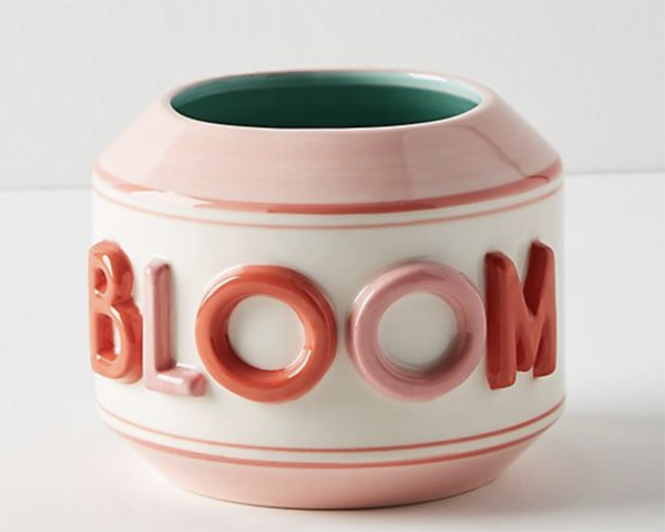 anthropologie flower pot