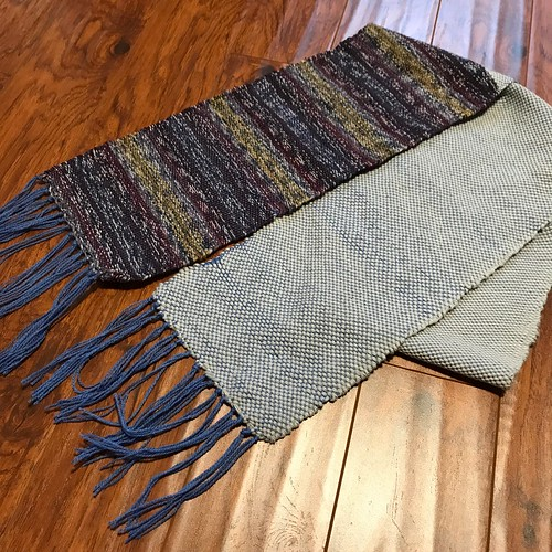 Trina wove this for her weaving project! A combination of Berroco Vintage Chunky and Phildar Phil Folk 100 held double that she had left over after knitting a pair of socks!