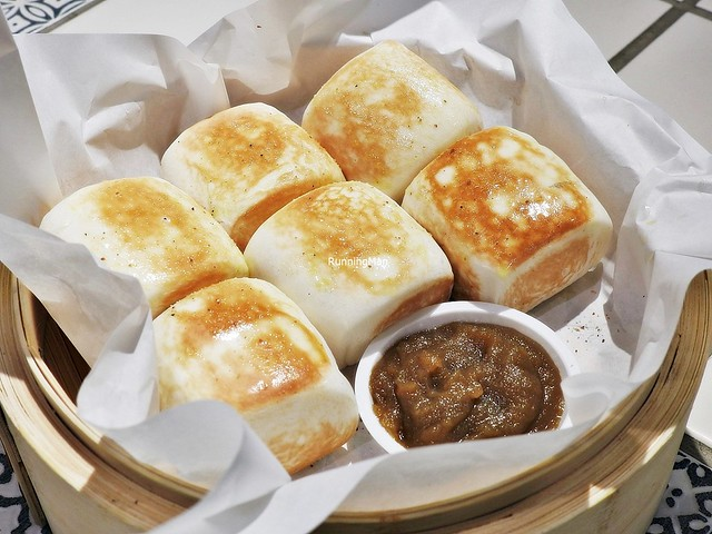 Mini Butter Toasted Mantou With Kaya