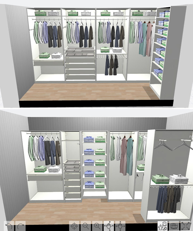 Ikea Pax Planner 3d Closet Rendering For Long And Narrow S