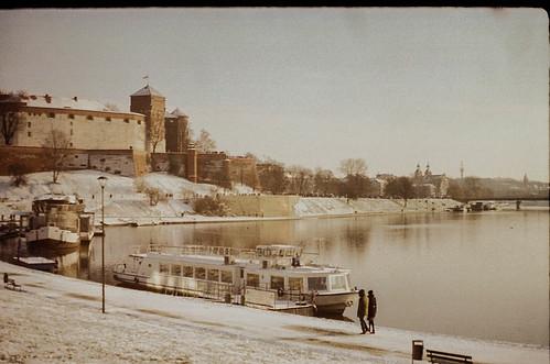 35mm film filmisnotdead fed5c russiancamera vintage camera wisla vistula river snow krakow poland winter winterisleaving ship castle wavel wavelcastle amazing landscape polska