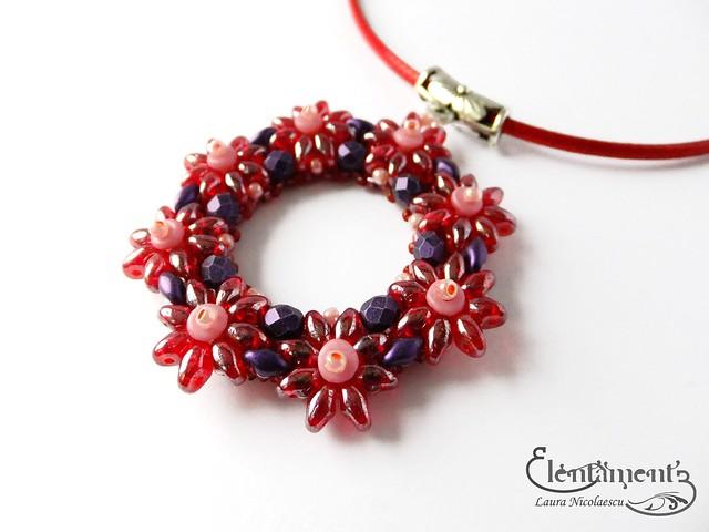 Red garland pendant