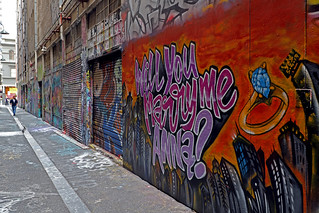 WILL YOU MARRY ME, STREET ART, LANEWAY, MELBOURNE © | by 32 Blocks
