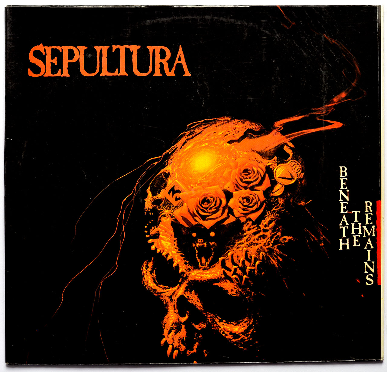 "SEPULTURA - BENEATH THE REMAINS (POLAND) 12"" LP ALBUM VINYL"