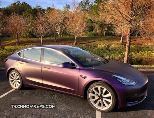 Tesla Model 3 Car Wrap In Orlando Tesla Model 3 Black