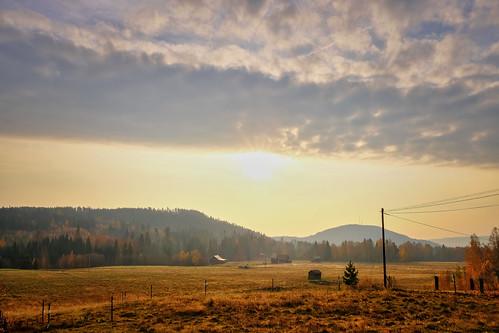 dalarna sweden gimmen autumn höst oktober october sunrise fields fält morgon sifferbo se