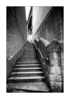 Dog leap stairs, Newcastle upon Tyne (pinhole) | by filmphotography.blog