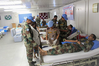 Goma, North Kivu, DR Congo – In commemoration of the International Women's Rights Day, a voluntary Blood Donation Camp was organized at Indian contingent of MONUSCO. | by MONUSCO