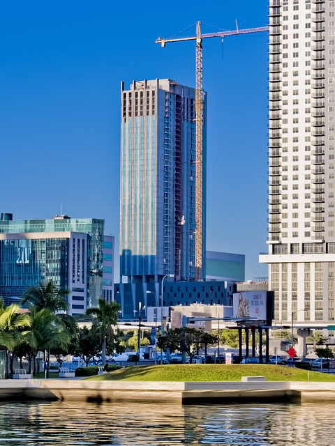 Park-Line Towers South, 600 NW 1st Avenue, Miami, FL, USA / Built: 2019 / Floors: 33 / Height: 375.07 ft / Architects: Nichols Brosch Wurst Wolfe & Associates; Zyscovich, Inc; Skidmore, Owings & Merrill LLP / Interior Designer: Stantec / Style: Modernism