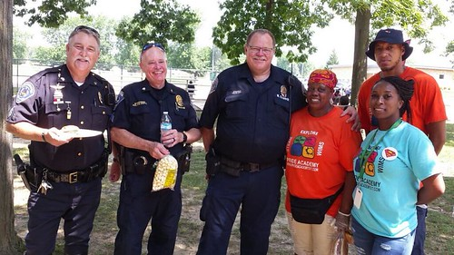 SPD Officers attend Price Academy Picnic | by speedwaycommunitypolicing