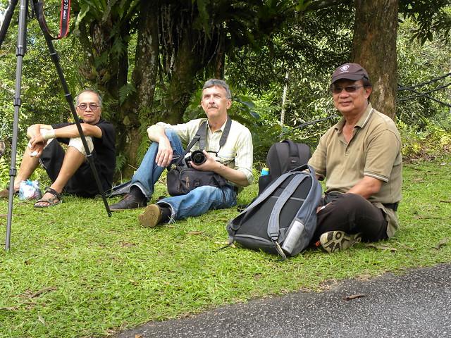With local birders, Con birders locali, С местными птичниками