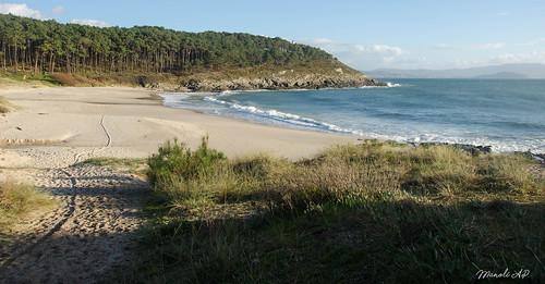 Playa de Melide , Cangas .