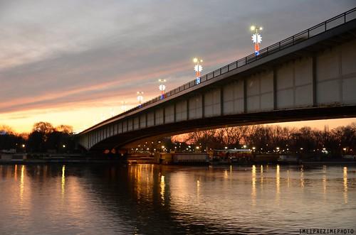 beograd belgrade waterfront sava rekasava savariver europe serbia srbija zappabarka novibeograd nikoneurope nikon d7000 nikond7000 sunset beautifulsunset bridge prestonica glavnigrad