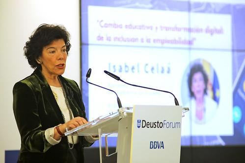 Conferencia DeustoForum con Isabel Celaá, ministra de Educación y Formación Profesional, sobre el cambio educativo y la transformación digital