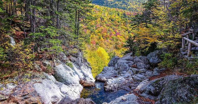 On the trail to Glen Ellis Falls, Jackson, New Hampshire