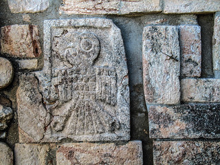 Parrot Relief on Great Pyramid at Uxmal | by T. Christensen