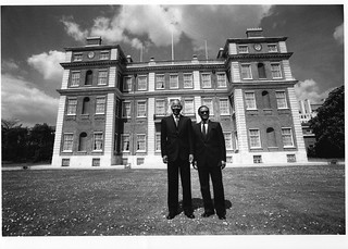 Nelson Mandela with Commonwealth Secretary-General Chief Emeka Anyaoku | by Commonwealth Secretariat