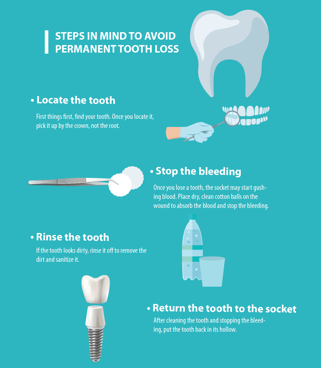 Steps in mind to avoid permanent tooth loss