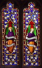 angels: 'blessed are the dead' and 'sorrow not' (attributed Ann Owen, 1860s - but William Wailes?)