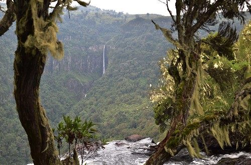 kenya waterfall gorge mountains landscape aberdarenationalpark