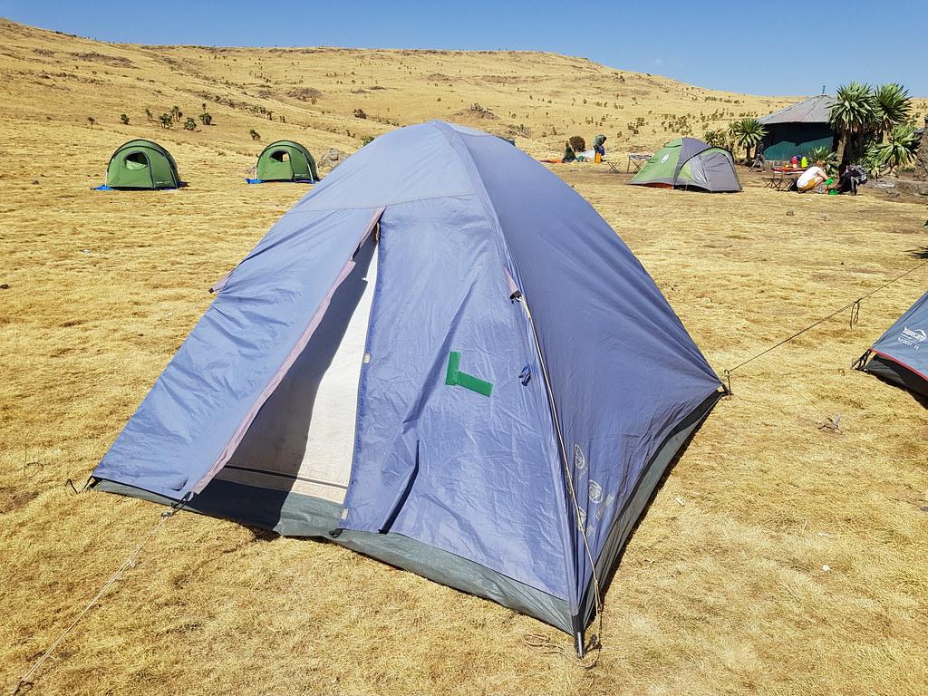 Góry Simien, kemping na 3600, Etiopia