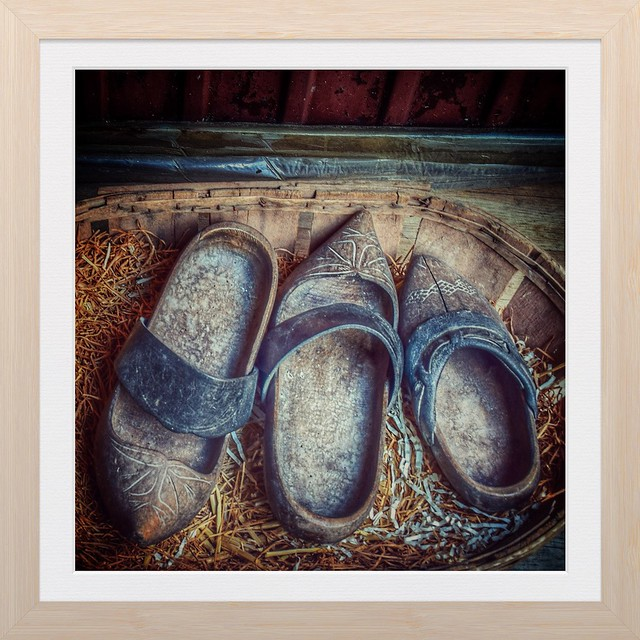Old brown clogs
