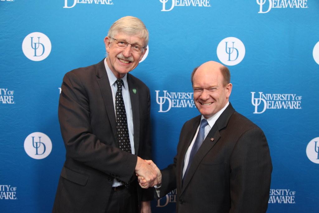 2019 3 1 NIH Director Collins visits University of Delawar